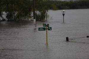 Gran parte del país está bajo agua.
