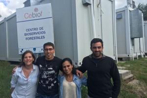 Integrantes del equipo del Cebiof: Pilar Gasparri, Juan Carlos Valladares, Lorena Luna y Andrés Villar.