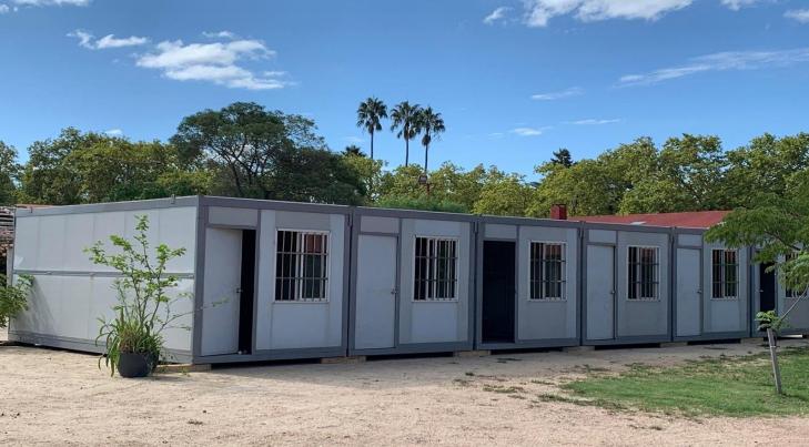 Módulos habitacionales donados por Asecfur
