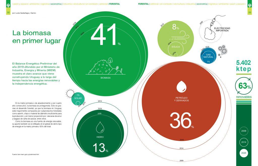 Infografía biomasa en Uruguay