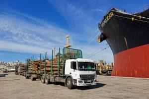 cargamento madera buque puerto montevideo
