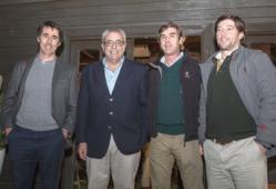 Francisco Bonino, Atilio Ligrone, Andrés Barbosa y Bernardo Riet.