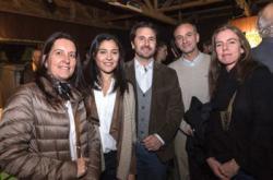 Andrea Regusci, Natalia Muiño, Diego Mora, Álvaro Molinari y Pilar Perrier.