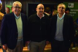 Atilio Ligrone, Javier Otegui y Carlos Faroppa