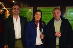 Jorge Martínez Haedo, Paola Molina y Álvaro Molinari
